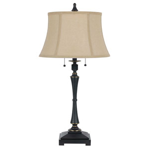 Madison Oil Rubbed Bronze Table Lamp with Burlap Shade