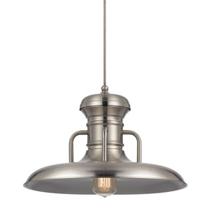 Winterset Brushed Steel One-Light Sixteen-Inch Pendant