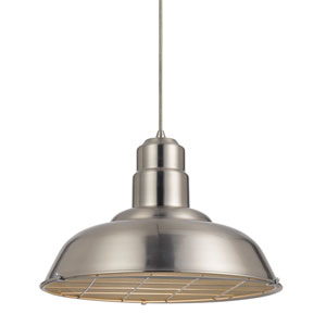 Ashland Brushed Steel One-Light Sixteen-Inch Pendant