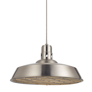 Danberry Brushed Steel One-Light Twenty-Inch Pendant