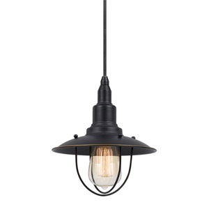 Allentown Dark Bronze One-Light Eight-Inch Mini Pendant