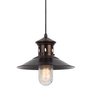 Binghamton Rust One-Light Twelve-Inch Mini Pendant