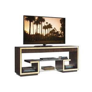 Bel Aire Walnut and Gold Rodeo Media Console