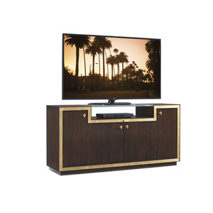 Bel Aire Walnut and Gold Palisades Media Console
