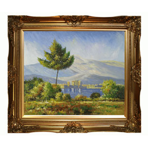 Antibes, 1888 by Claude Monet: 24 x 20 Oil Painting Reproduction with Victorian Gold Frame