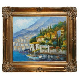 Italy at Dusk: 24 x 20 Oil Painting Reproduction