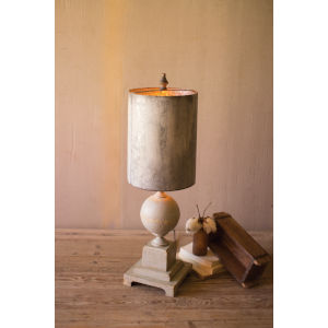 Grey and White Wash One-Light Table Lamp