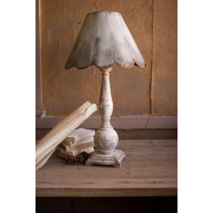 White Wash One-Light Table Lamp