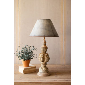 Natural 33-Inch One-Light Table Lamp with Sculpted Base