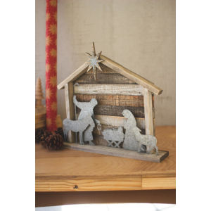 Natural Nativity Tabletop Decor