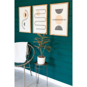Multicolor Abstract Prints Under Glass, Set of Three