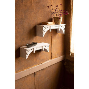 Wooden Wall Shelves, Set of Two