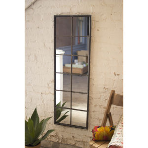 Antique Galvanized 16-Inch Metal Framed Wall Mirror