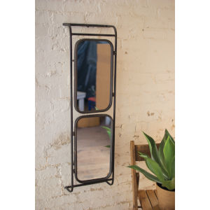 Raw Metal 12-Inch Double Wall Mirror