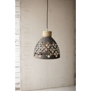 Black One-Light Pendant