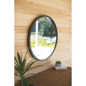 Raw Metal 2-Inch Round Mirror