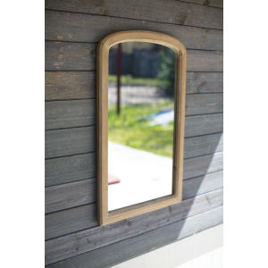 Natural Wood 22-Inch Framed Mirror