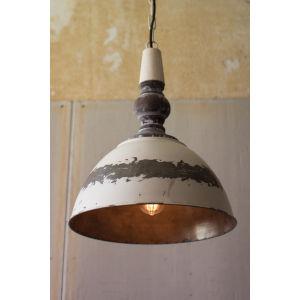 Antique Buttermilk Metal Pendant Light