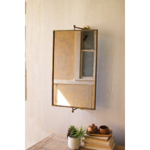 Antique Gold 27-Inch Rectangle Tilting Wall Mirror