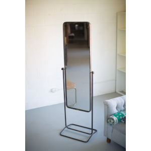 Natural Iron 21-Inch Tall Metal Framed Floor Mirror