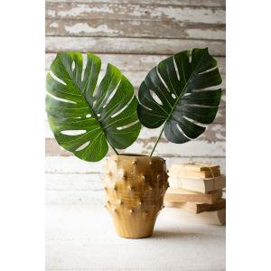 Tan Glazed Ceramic Vase with Point