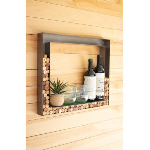 Gunmetal Wall Bar and Wine Cork Holder