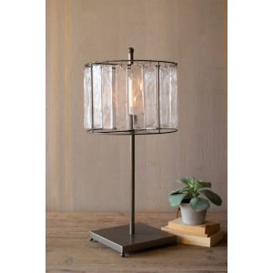 Gray 31-Inch One-Light Table Lamp with Glass Chimes