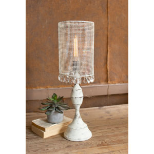 Antique White 28-Inch One-Light Table Lamp