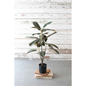 Green Artificial Potted Magnolia