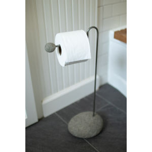 Brown Bathroom Toilet Paper Stand