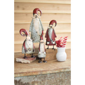 Multicolor Painted Santa Figurine, Set of 4