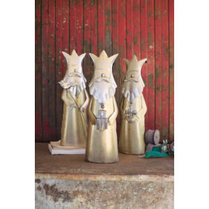 Gold King Figurine, Set of 3