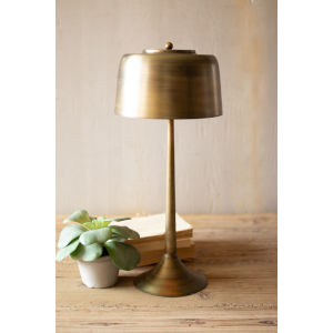 Antique Brass 23-Inch One-Light Table Lamp with Brass Shade