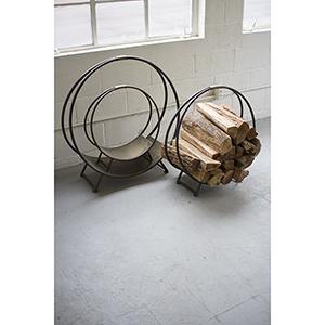 Set of Three Metal Firewood Racks