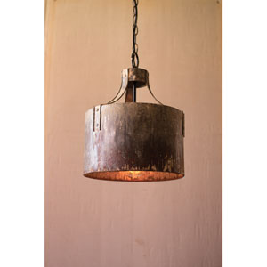 Metal Cylinder One-Light Pendant Light
