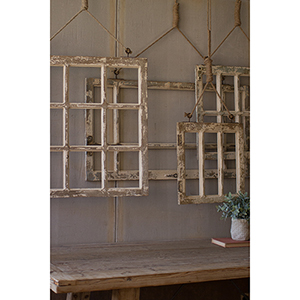 Set of Four Window Frame Wall Art