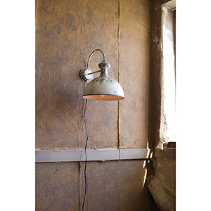 Distressed White One-Light Wall Sconce