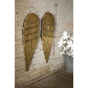 Painted Wooden Angel Wings, Set of Two