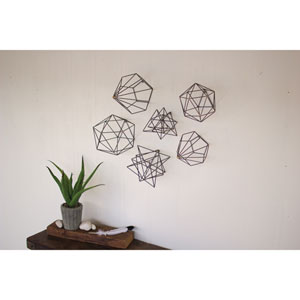 Geometric Orb Wall Art, Set of Six