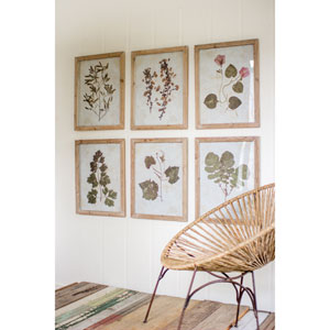 Leaf Prints Under Glass, Set of Six