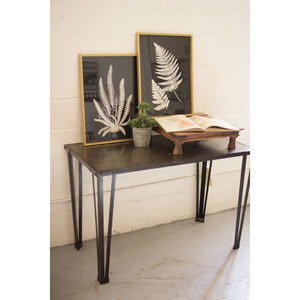 Black and White Fern Prints Under Glass, Set of Two
