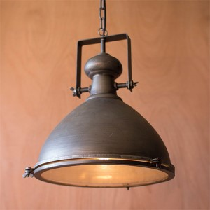 Metal One-Light Dome Pendant III