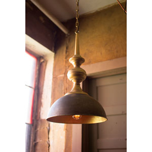 Antique Gold Metal One-Light Pendant