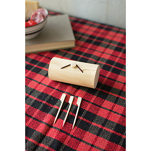 Set of 12 of 36 Bamboo Skewers with Wooden Box