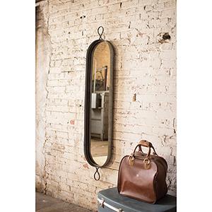 Tall Oval Wall Mirror
