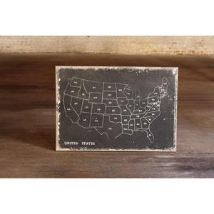 USA Wall Art Print on Canvas