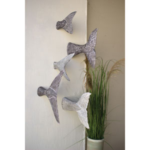 Fish Tale Wall Sculptures, Set of Five
