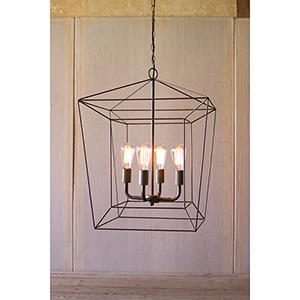 Charcoal Four-Light Lantern Pendant