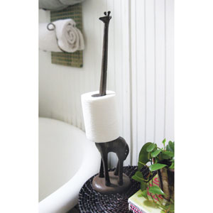 Rust Giraffe Paper Towel Holder