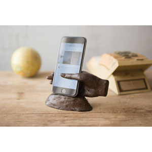 Cast Iron Hand Smart Phone Stand
